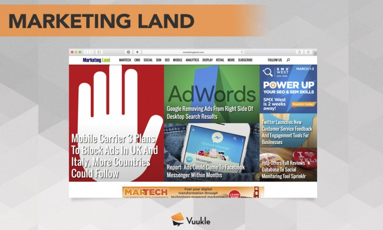 Marketing Land Blog Screenshot