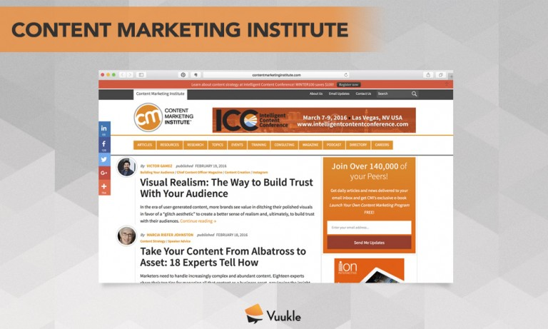 Content Marketing Institute Blog Screenshot