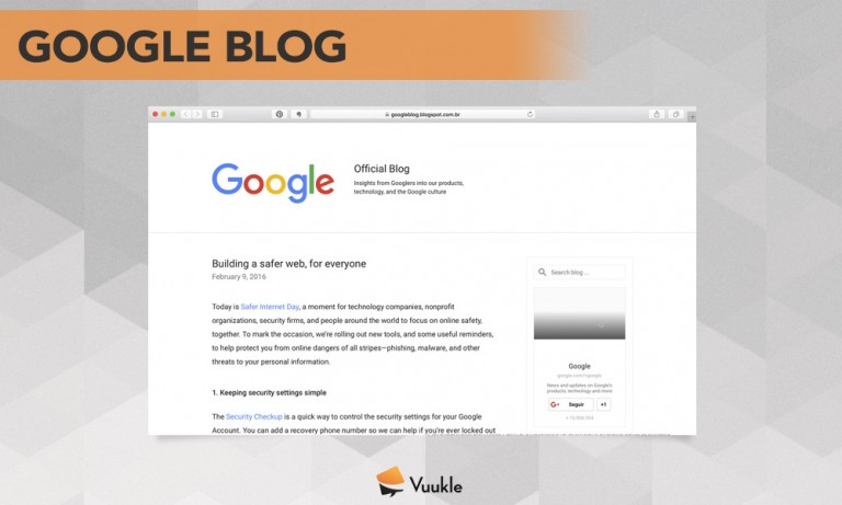 Google Blog Screenshot