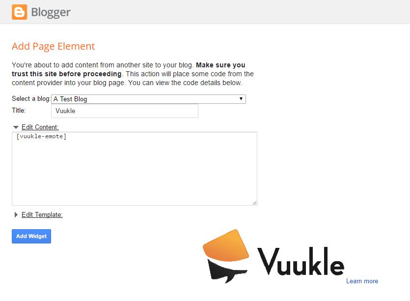 Install Vuukle on a Blogger blog 02