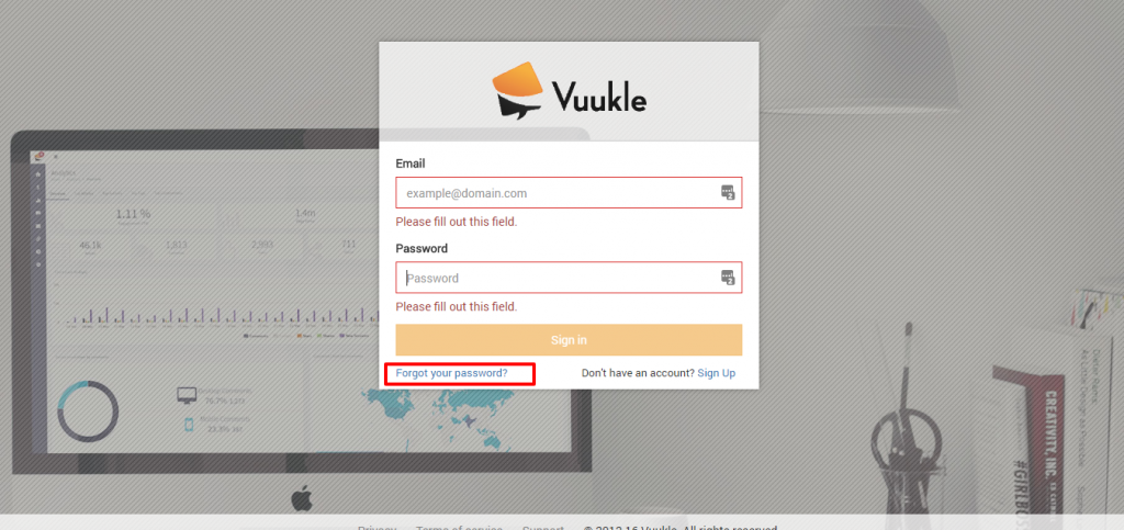 recover Vuukle login password 01