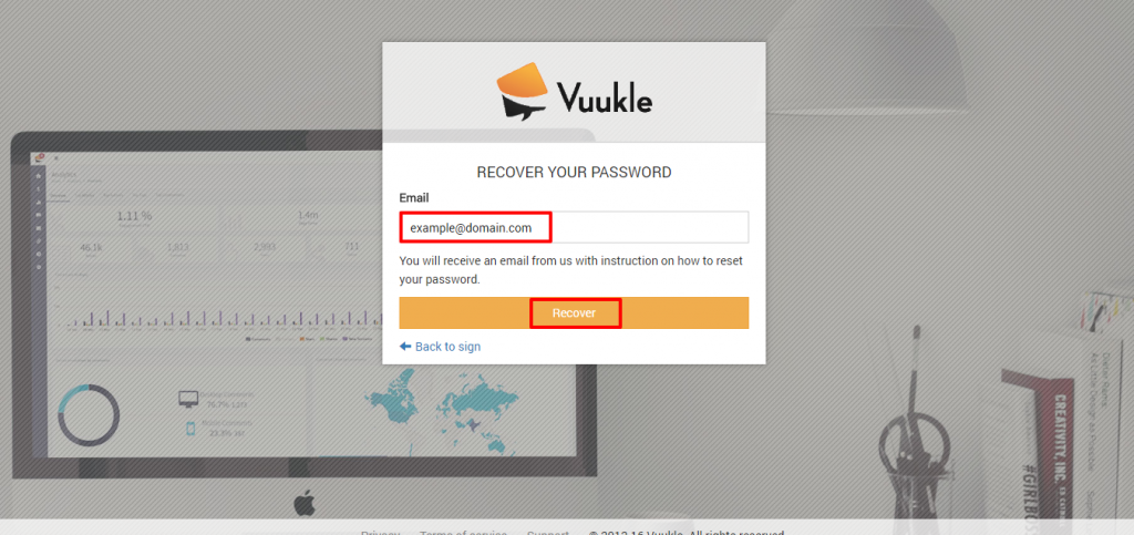 recover Vuukle login password 02