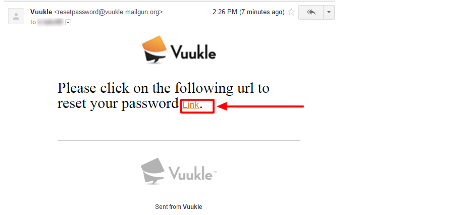 recover Vuukle login password 04