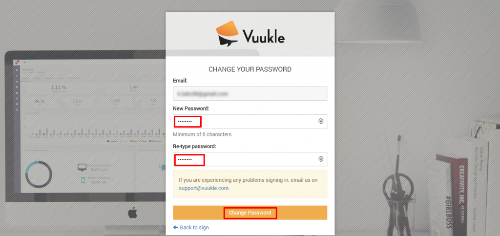 recover Vuukle login password 05