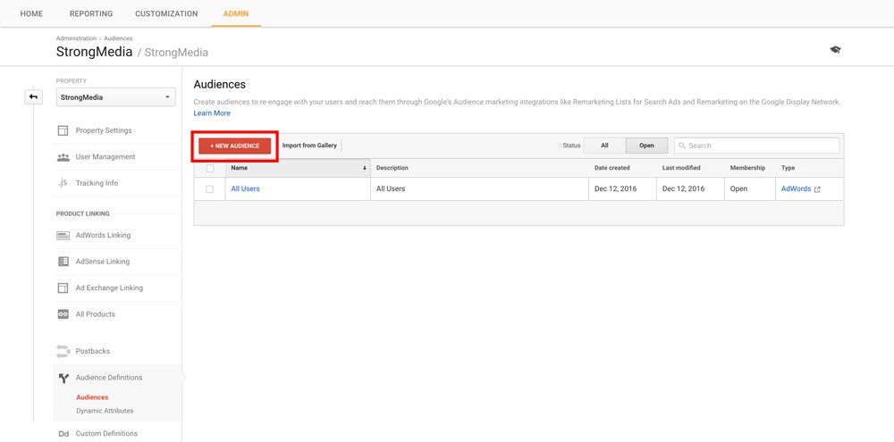 Google Analytics Smart Lists - Step 2