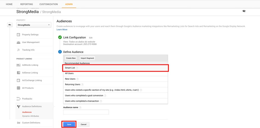 Google Analytics Smart Lists - Step 4
