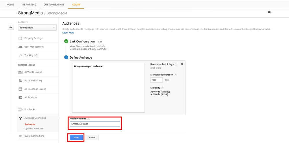 Google Analytics Smart Lists Step 5